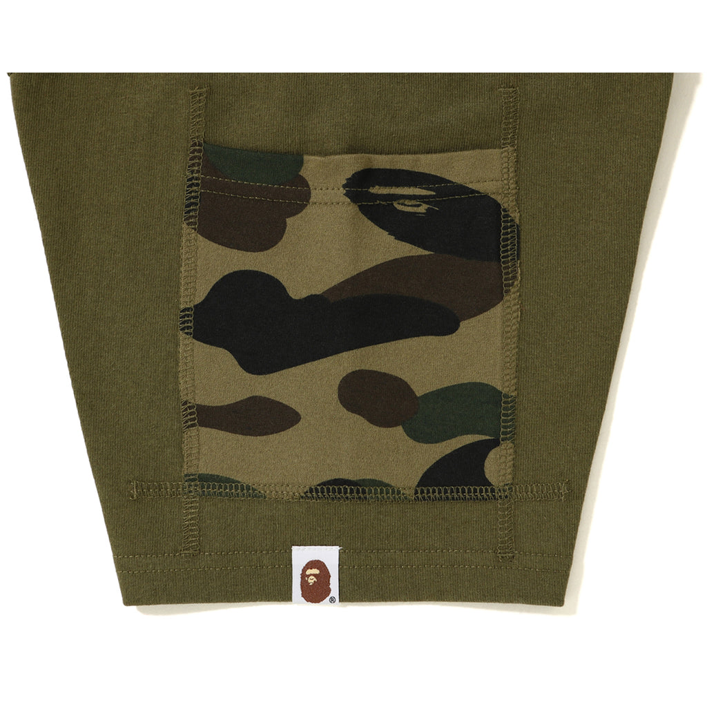 BAPE 1ST CAMO SLEEVE POCKET TEE MENS