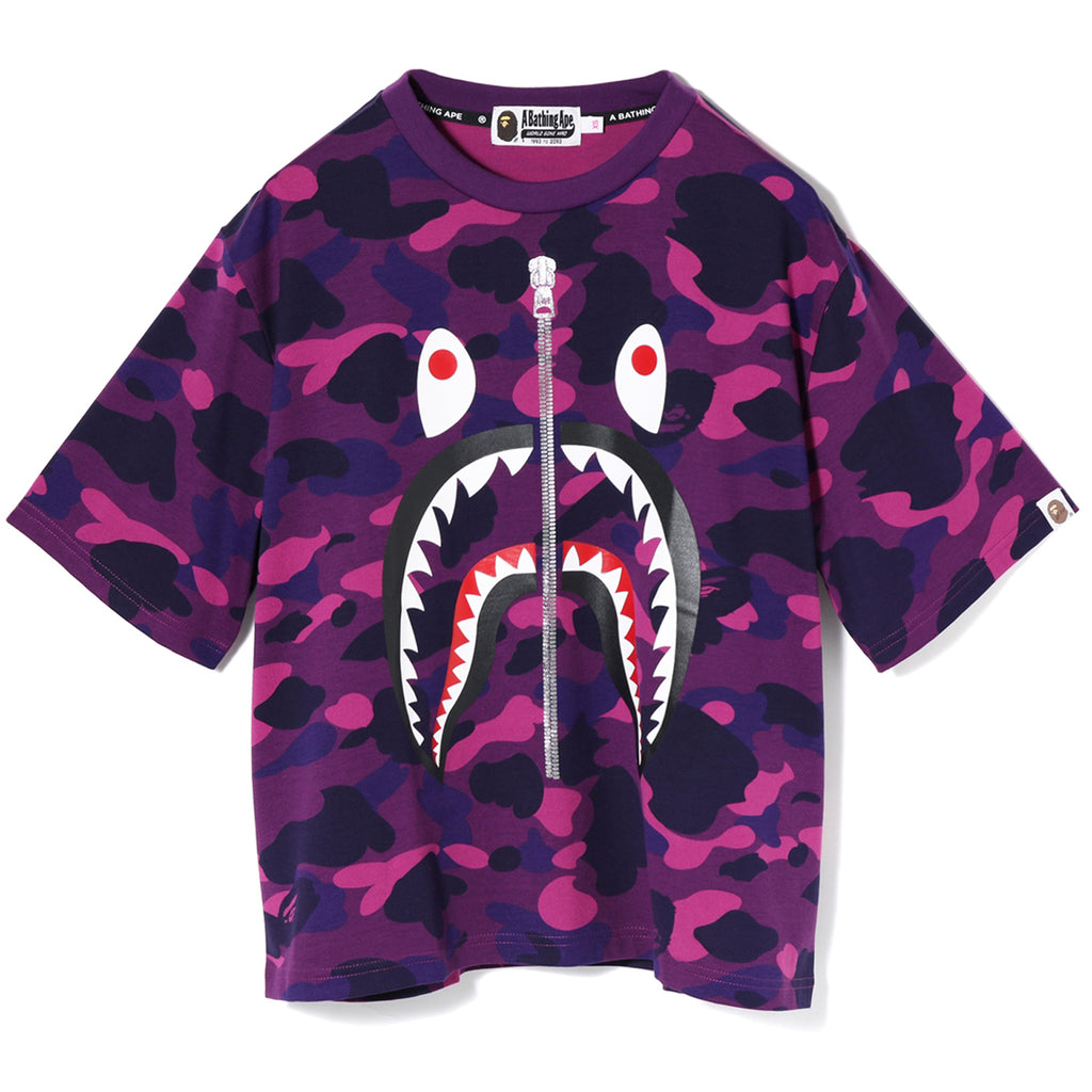 COLOR CAMO 2ND SHARK WIDE TEE LADIES