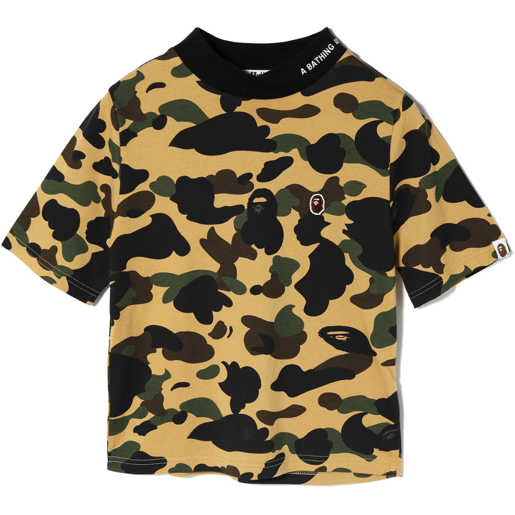 1ST CAMO MOCK NECK TEE LADIES