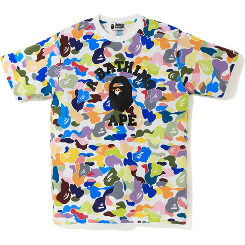 MULTI CAMO COLLEGE TEE MENS