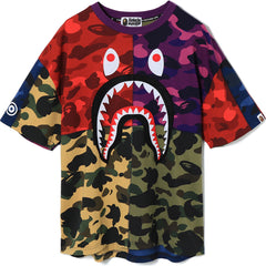 MIX CAMO SHARK OVERSIZED TEE LADIES