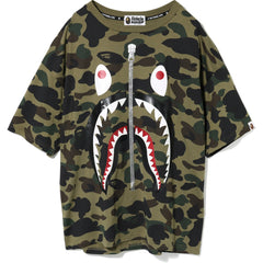 1ST CAMO GLITTER 2ND SHARK OVERSIZED TEE LADIES