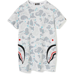 SPACE CAMO SIDE SHARK LONG TEE LADIES