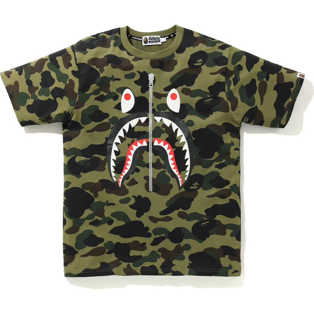 1ST CAMO SHARK TEE MENS