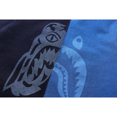 INDIGO HALF TIGER SHARK TEE MENS