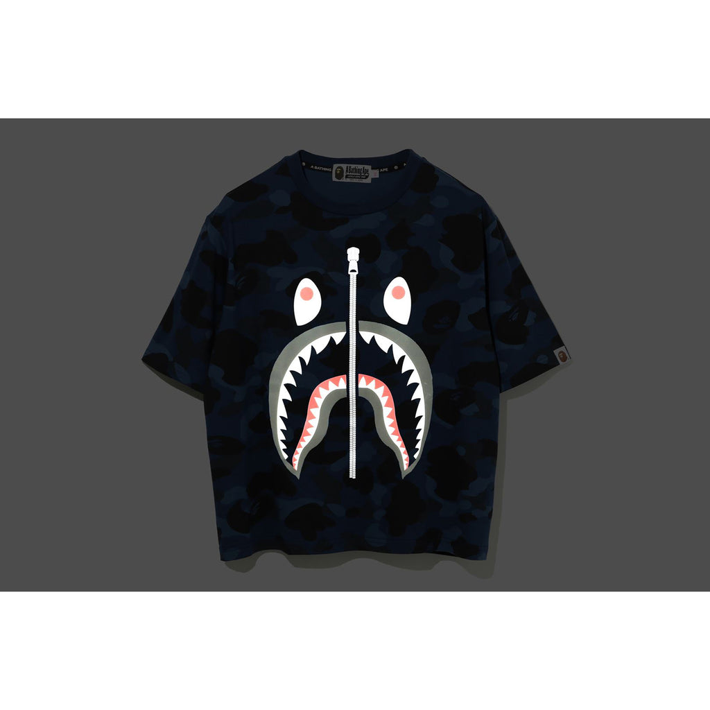 COLOR CAMO REFLECTOR SHARK WIDE TEE LADIES