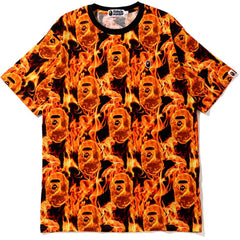 BAPE FLAME WIDE TEE MENS