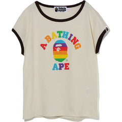 RAINBOW COLLEGE TRIM TEE LADIES