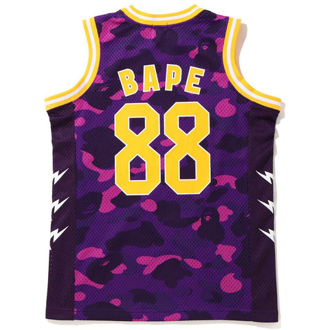 COLOR CAMO BAPE BASKETBALL TANK TOP JR KIDS