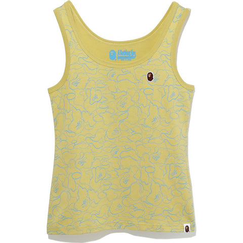 LINE CAMO APE HEAD ONE POINT TANK TOP LADIES