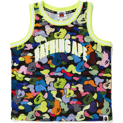 MULTI CAMO BASKETBALL TANK TOP KIDS