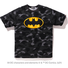BAPE X DC BATMAN COLOR CAMO TEE MENS