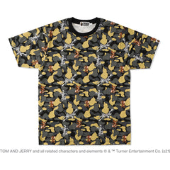 BAPE X TOM AND JERRY CAMO MADISON AVENUE TEE MENS
