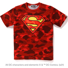 BAPE X DC SUPERMAN COLOR CAMO TEE LADIES