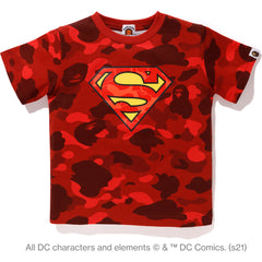 BAPE X DC SUPERMAN COLOR CAMO TEE KIDS