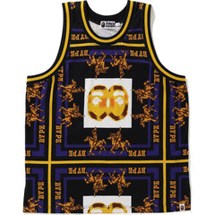 DOUBLE APE HEAD BASKETBALL TANK TOP MENS
