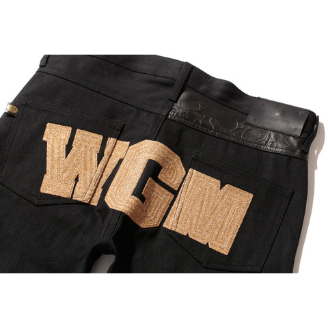 BAPE® BLACK SHARK DENIM PANTS
