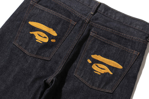 2008 TYPE-05 APE FACE DENIM PANTS