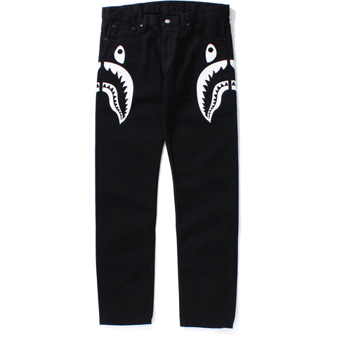 SIDE SHARK SLIM STRETCH DENIM PANTS
