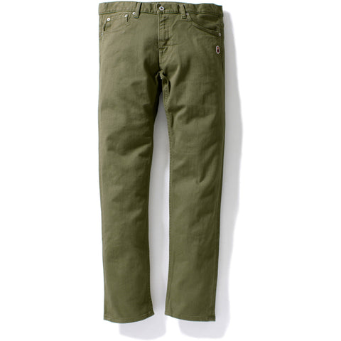 SLIM COLOR STRETCH PANTS MENS