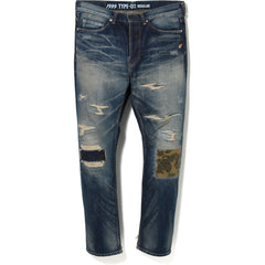 c3917b40c0 NEW 1999 TYPE-02 DAMAGE DENIM PANTS MENS