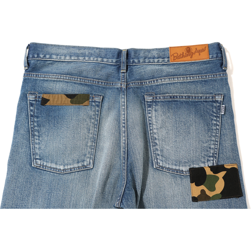 2008 TYPE-05 CAMO PATCHED DAMAGED DENIM MENS