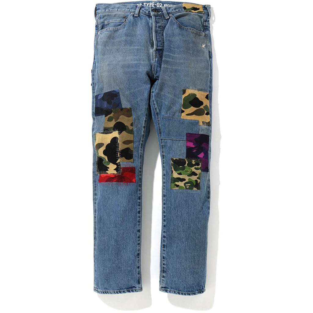 1999 TYPE-02 PATCHWORK DAMAGED DENIM PAN MENS