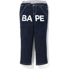 BAPE DENIM WORK PANTS KIDS