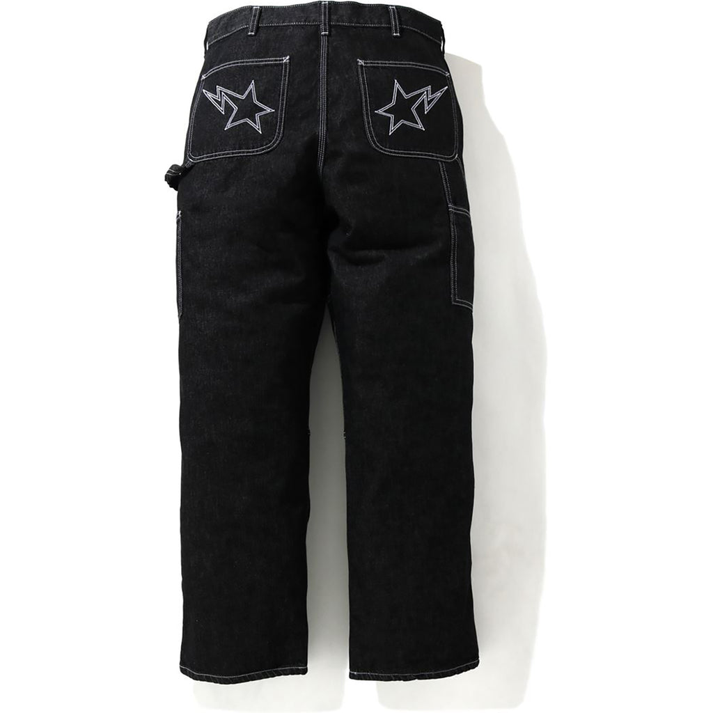 LOOSE FIT DENIM PAINTER PANTS MENS