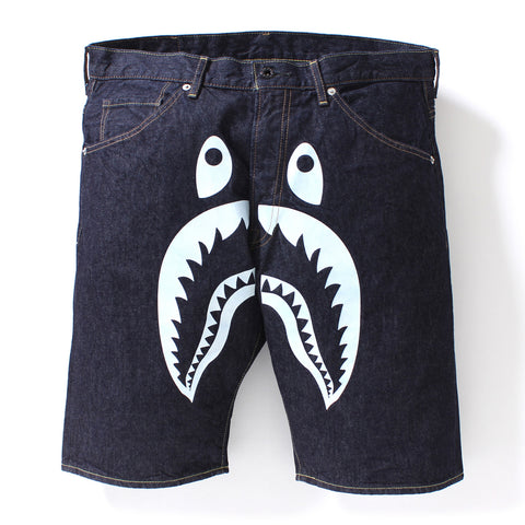 SHARK DENIM SHORTS MENS