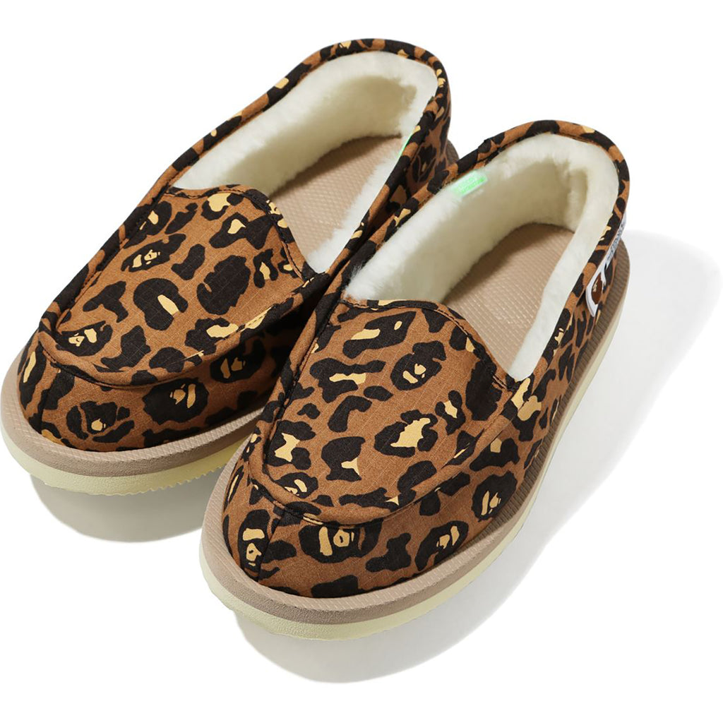 BAPE X SUICOKE LEOPARD ROOM SHOES MENS