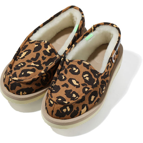 BAPE X SUICOKE LEOPARD ROOM SHOES LADIES