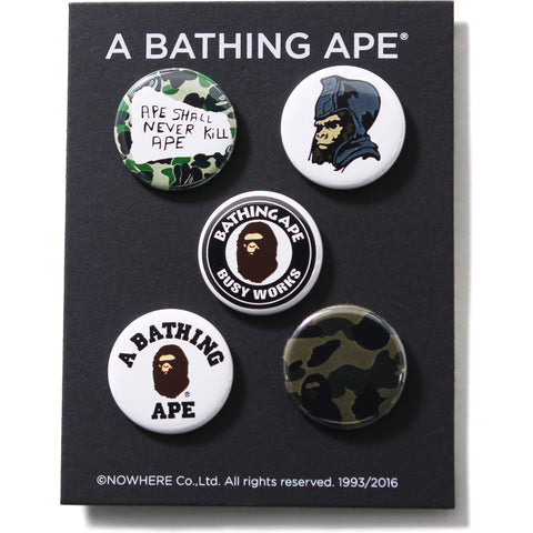 A BATHING APE BADGES SET M
