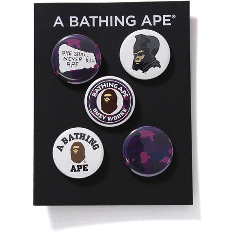 COLOR CAMO A BATHING APE BADGES SET M