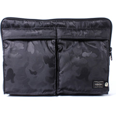 PORTER ABC POLYESTER JACQUARD CLUTCH BAG MENS