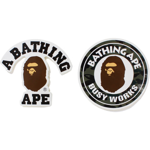 1ST CAMO A BATHING APE STICKER SET MENS