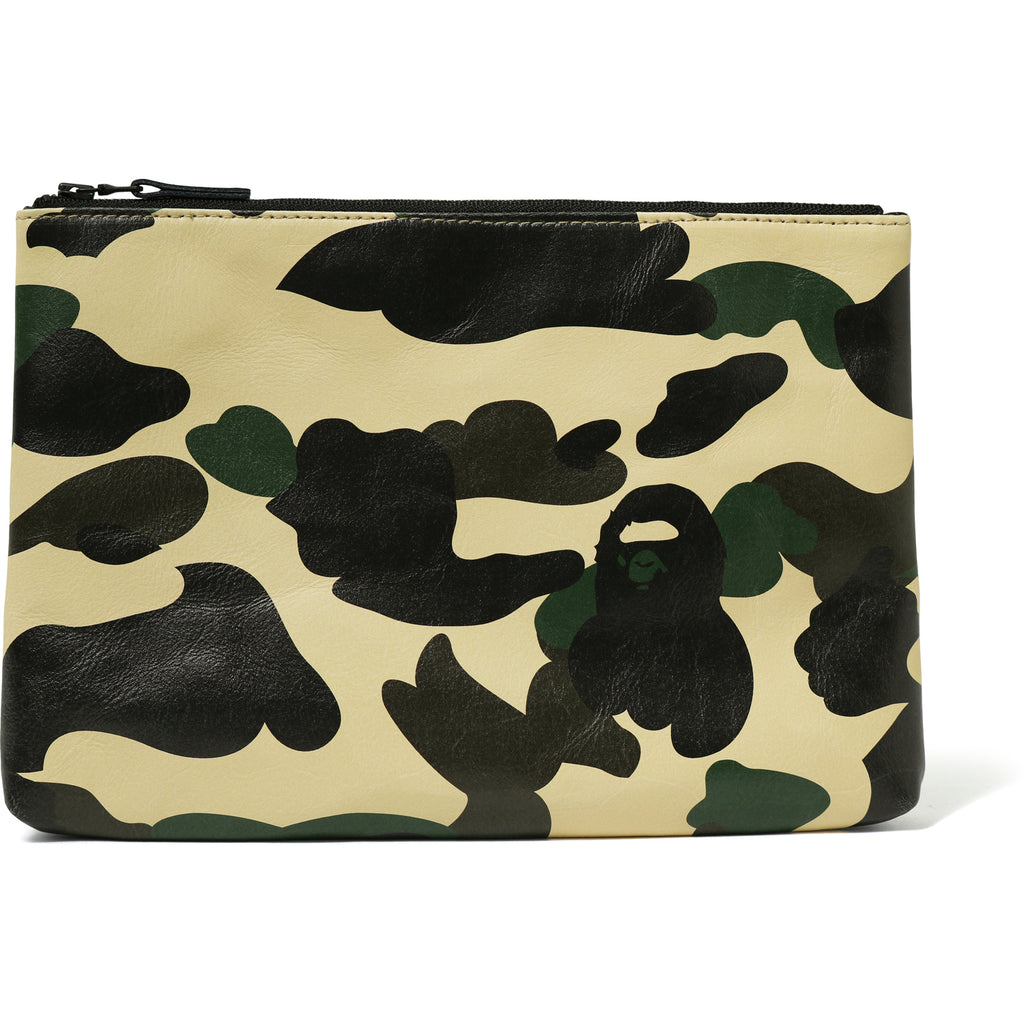 1ST CAMO LEATHER CLUTCH MENS