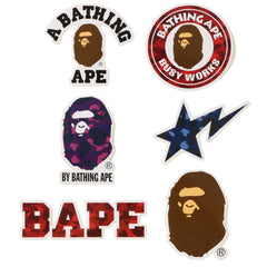 COLOR CAMO A BATHING APE STICKER SET MENS