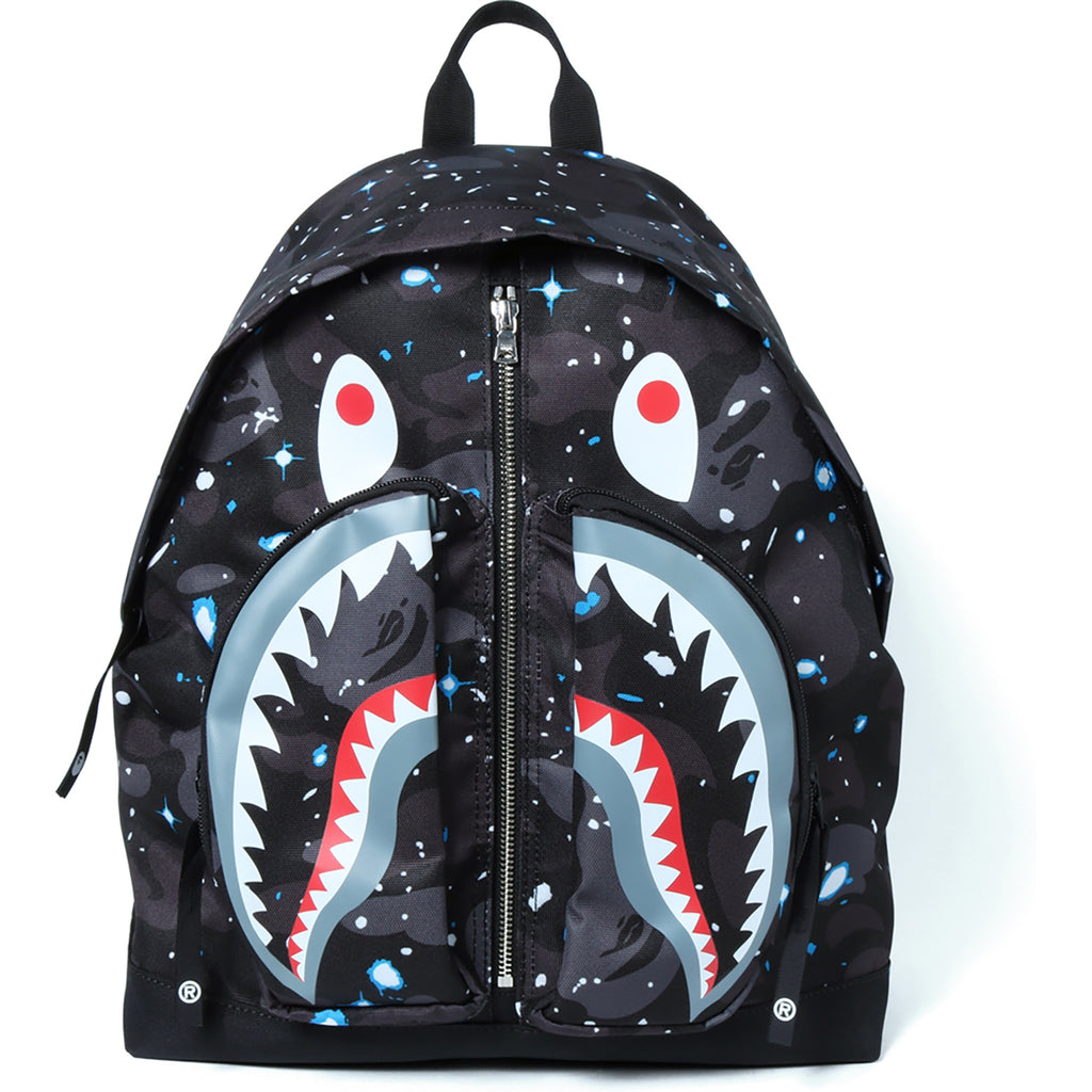 Bape Shark Backpack >> Space Camo Shark Day Pack Mens Us Bape Com