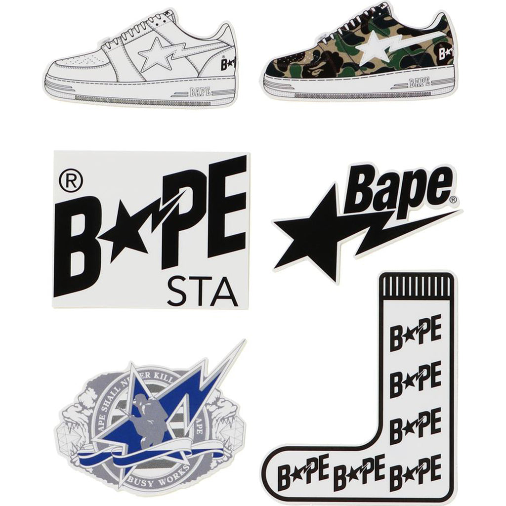BAPE STA STICKERS SET MENS