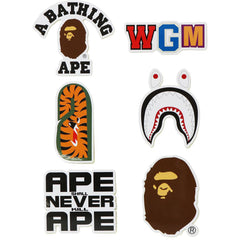 A BATHING APE STICKER SET MENS