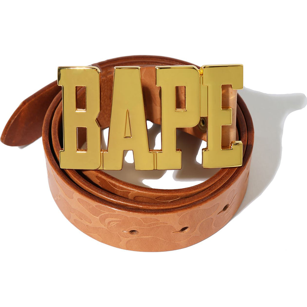 SOLID CAMO LEATHER BELT MENS