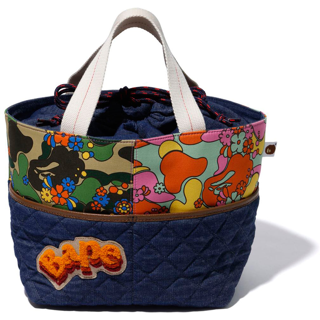 ABC CAMO FLOWER TOTE BAG LADIES