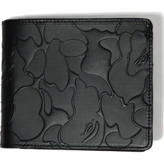 SOLID CAMO LEATHER WALLET MENS