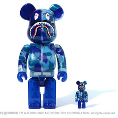 CLEAR ABC CAMO SHARK BE@RBRICK 100%&400% MENS
