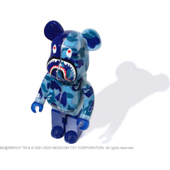 CLEAR ABC CAMO SHARK BE@RBRICK 1000% SET MENS