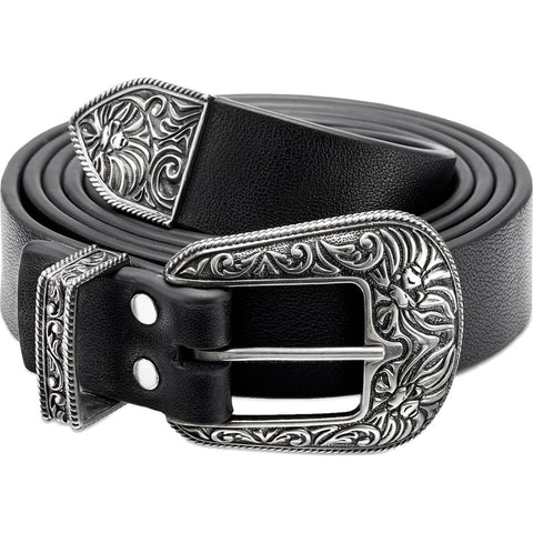 BAPE BLACK SILVER BUCKLE BELT MENS