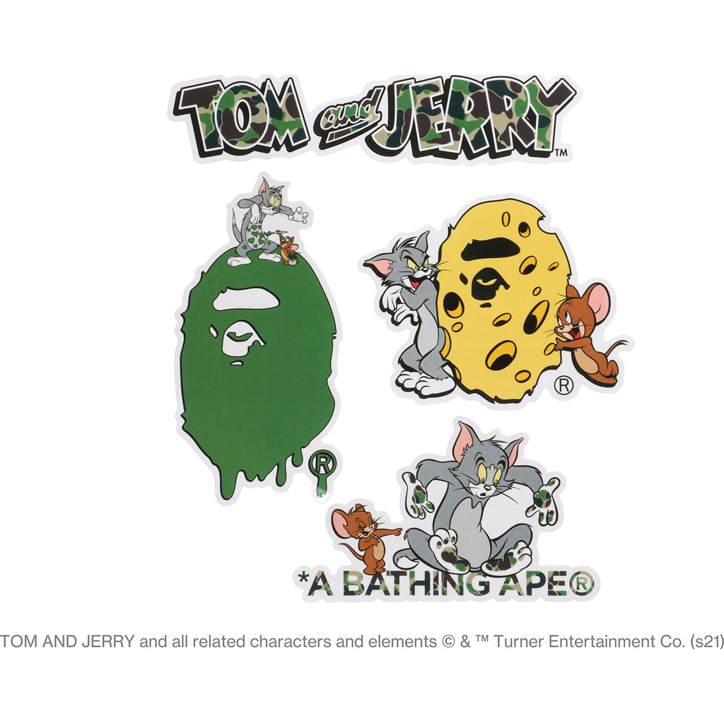 BAPE X TOM AND JERRY STICKER SET MENS