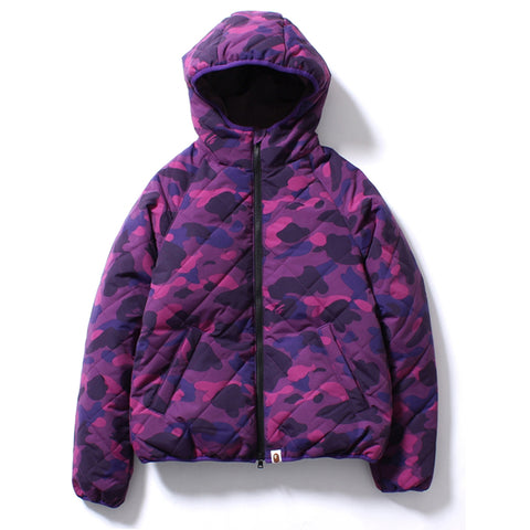 COLOR CAMO REVERSIBLE DOWN HOODIE JACKET /AP