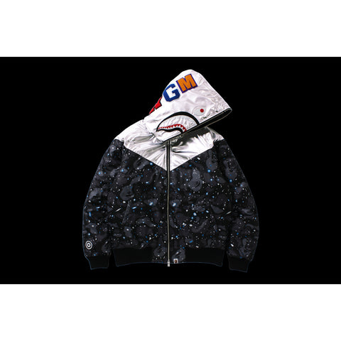 SPACE CAMO SHARK HOODIE JACKET MENS